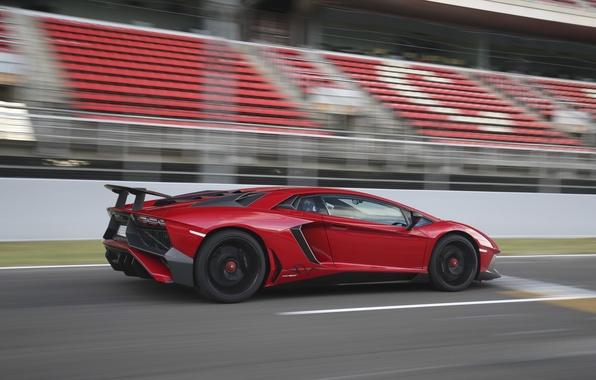 Picture machine, red, speed, Lamborghini, Aventador, Lamborghini, LP 750-4, Superveloce