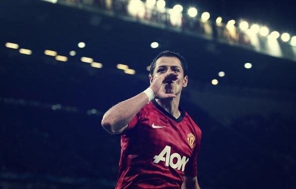 Wallpaper Manchester United, Javier Hernandez, Chicharito