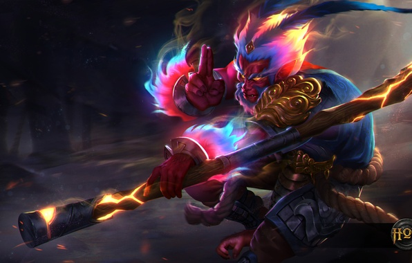 Wallpaper Hon Art Heroes Of Newerth Moba Monkey King Unbound