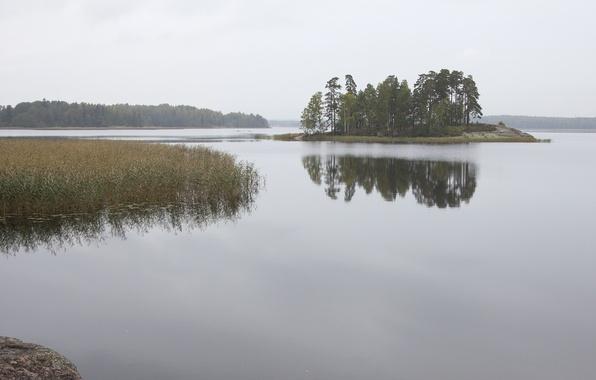 Picture nature, lake, photo, island, Russia, monrepo, mon repos