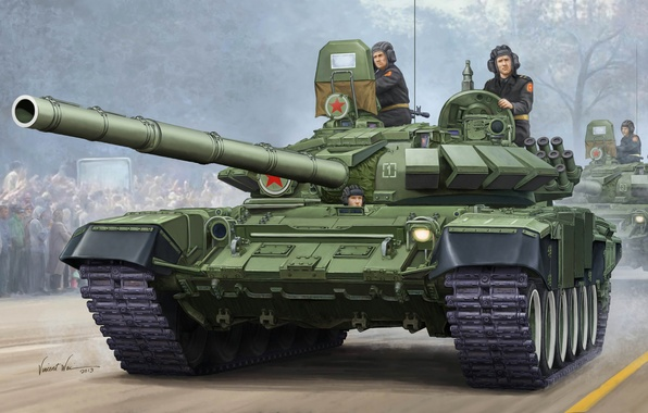 Picture protection, gun, art, artist, tank, USSR, Russia, installation, caliber, MBT, T-72, contact, option, THE T-72A, ...