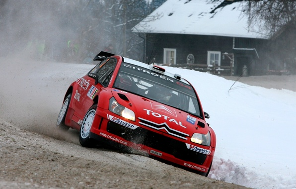 Picture Winter, Snow, House, Citroen, Citroen, Lights, Rally, Dani Sordo