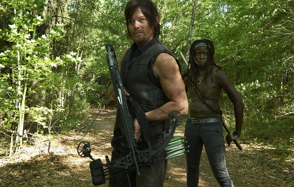 Picture forest, the series, crossbow, The Walking Dead, The walking dead, Norman Reedus, Norman Reedus, Daryl …