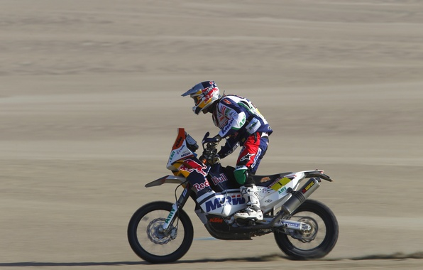 Picture Sport, Motorcycle, Red Bull, racer, Rally, Dakar, Dakar, Rally, The view from the side