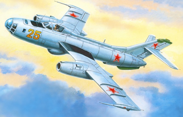 Picture the sky, figure, art, bomber, Soviet, speed, purpose, As-25B, special