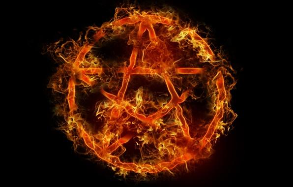 Picture fire, symbol, fire, pentagram