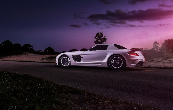 Picture car, Mercedes, Mercedes SLS, tuning, rechange, Black Series, hq Wallpapers, William Stern, RennTech