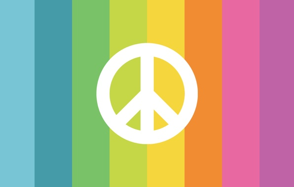 Picture color, strip, sign, rainbow, symbol, pacifism, Pacific