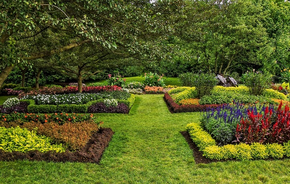 Picture grass, nature, photo, lawn, garden, USA, the bushes, Longwood, Kennett Square