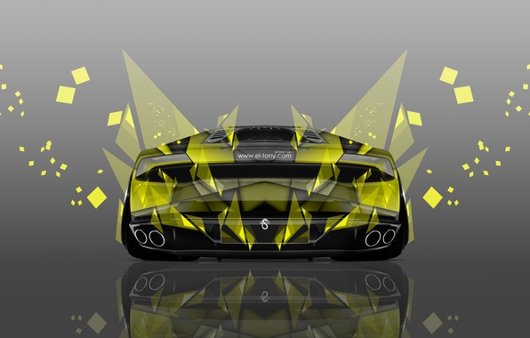 Picture Lamborghini, Yellow, Wallpaper, Art, Abstract, Photoshop, Photoshop, Abstract, Design, Wallpapers, Yellow, Lamborghini, Back, Silver, Effects, …
