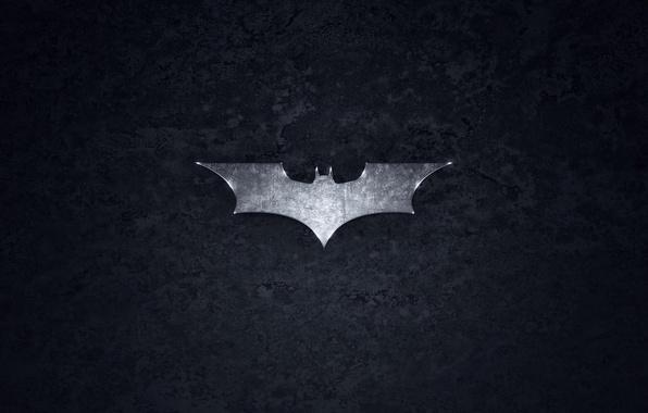 Picture grey, Batman, logo