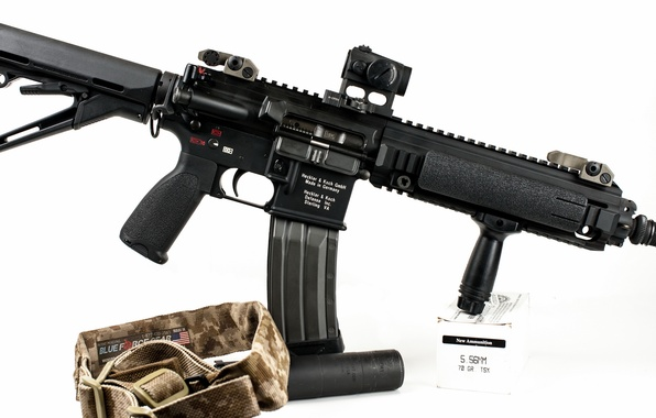 Picture weapons, machine, HK416