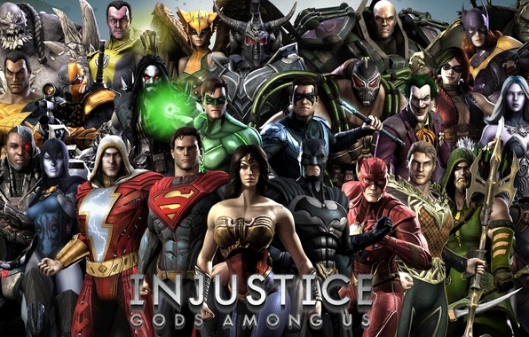 Picture Wonder Woman, Batman, Joker, Green Lantern, Superman, Green Arrow, Lex Luthor, Bane, Catwoman, Batgirl, Harley …