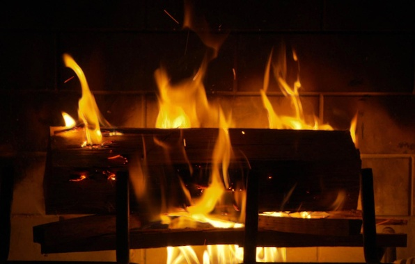 Picture fire, flame, fireplace, hearth, log