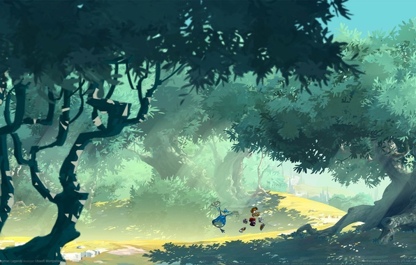 Wallpaper the game game wallpapers rayman legends road trees photo wallpaper the game game wallpapers rayman legends road trees forest voltagebd Image collections