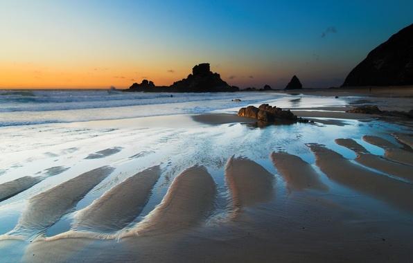 Picture sea, water, stones, Shore