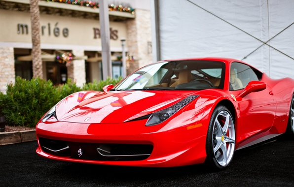 Picture Ferrari, supercar, Red, Ferrari, red, 458, Italia
