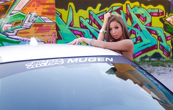 Wallpaper Machine Girl Wall Graffiti Honda Donnah Pham Images For Desktop Section