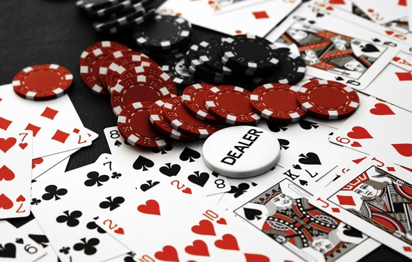 Picture card, chips, Casino, poker