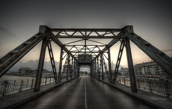 Picture road, sea, the sky, water, landscape, city, the ocean, view, home, architecture, bridges, road, buildings, …