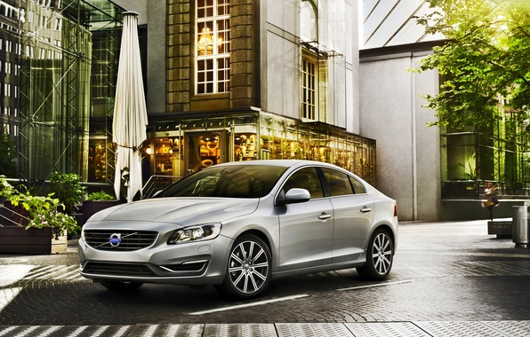 Picture Auto, The city, Volvo, Grey, The front, S60