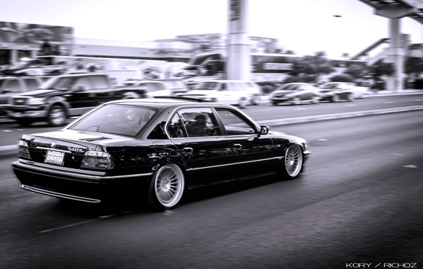 Picture bmw, BMW, speed, black, Boomer, e38, bimmer