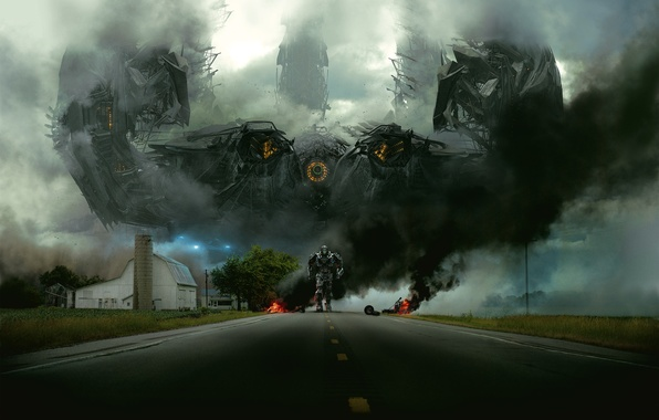 Picture road, robot, transformer, Transformers, Age Of Extinction, Age of extinction Transformers