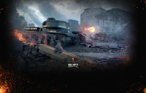 Picture Fire, Iron, Trunk, Flame, Tanks, Panther, World of Tanks, World Of Tanks, Wargaming Net, Medium …