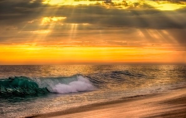 Picture sea, wave, water, sunset, nature, the ocean, sky, sea, ocean, nature, sunset, water, wave