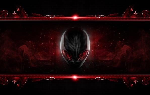 Picture eyes, red, head, brand, alienware, inoplanetyanin