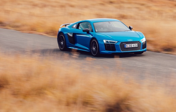 Picture road, Audi, speed, car, V10, More