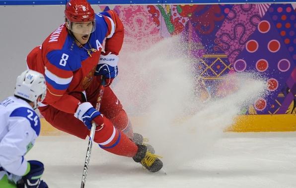 Picture ice, Russia, hockey, Alexander Ovechkin, Sochi 2014, The XXII Winter Olympic Games, Sochi 2014, sochi …