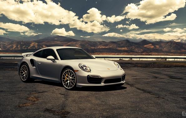 Picture 911, Porsche, silver, before, Porsche, front, Turbo, silvery