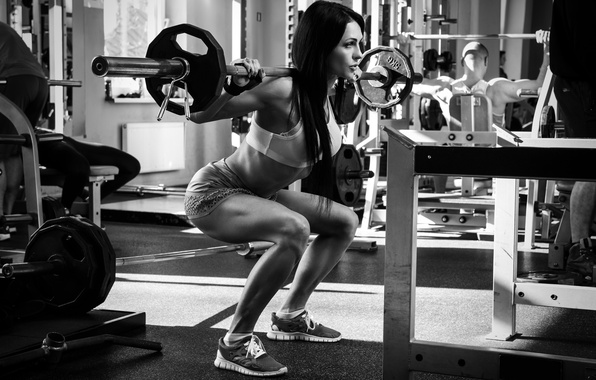 wallpaper woman gym crossfit legs weight lifting