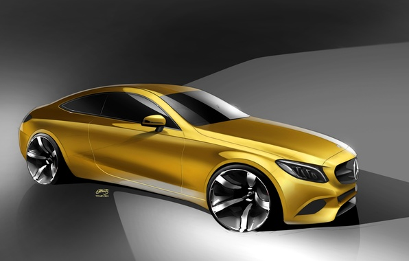 Picture coupe, Mercedes-Benz, Mercedes, Coupe, C-Class, C205