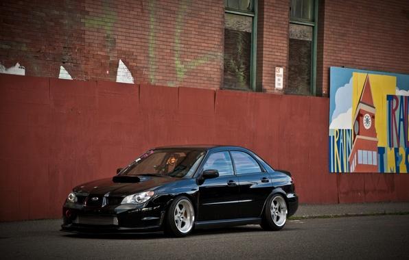 Picture tuning, black, subaru, black, impreza, Subaru, sti, Impreza, stance