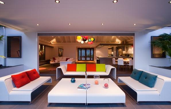 Picture design, style, Villa, interior, pillow, kitchen, table, sofas, design, interior, home, villa, picture.