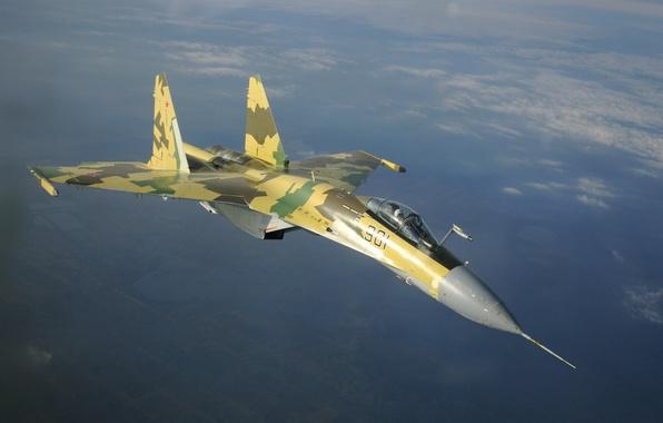 Picture aviation, Wallpaper, fighter, the plane, BBC, generation, jet, Russia, OKB, Su-35S, Russian, multipurpose, super-maneuverable, 4++, …