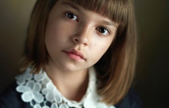 Picture portrait, girl, the beauty, brown-eyed, Alexander Vinogradov