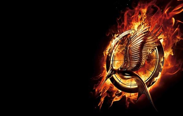 Picture fire, emblem, Katniss Everdeen, Katniss Everdeen, The Hunger Games 2, The Hunger Games 2, The …