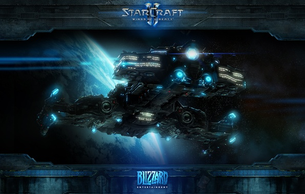 Picture starcraft, space, Terran, cruiser