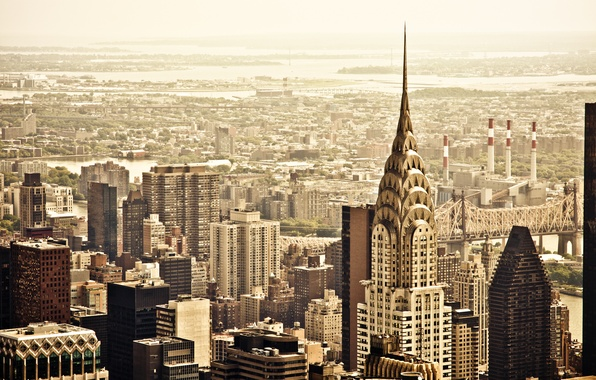 Picture the city, view, building, home, New York, skyscrapers, roof, panorama, USA, USA, Manhattan, New York, …