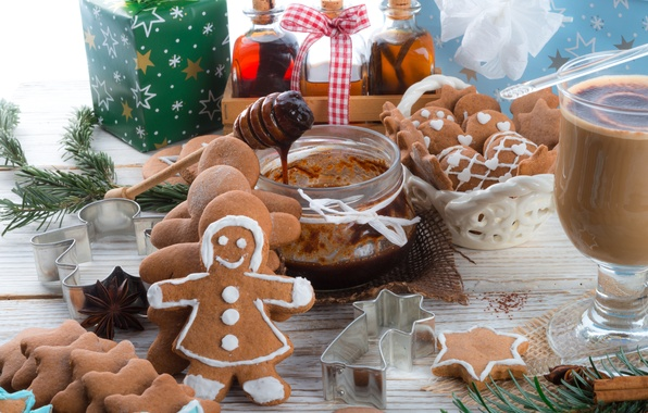 Picture holiday, Christmas, man, sweets, New year, Christmas, cookie, figure, New Year, Christmas, sweets, cookies