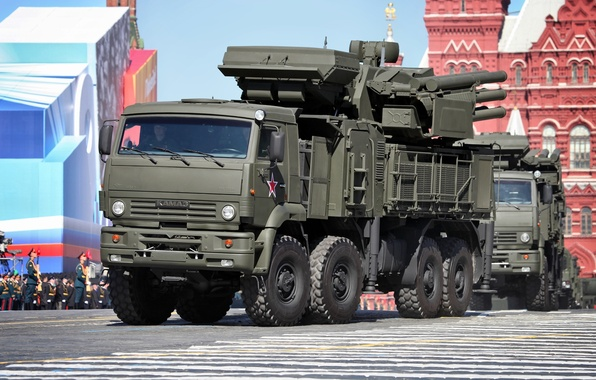 Picture Russia, May 9, complex, self-propelled, Victory Parade, Red Square, Pantsir-S1, missile and gun, anti-aircraft, SA-22 ...