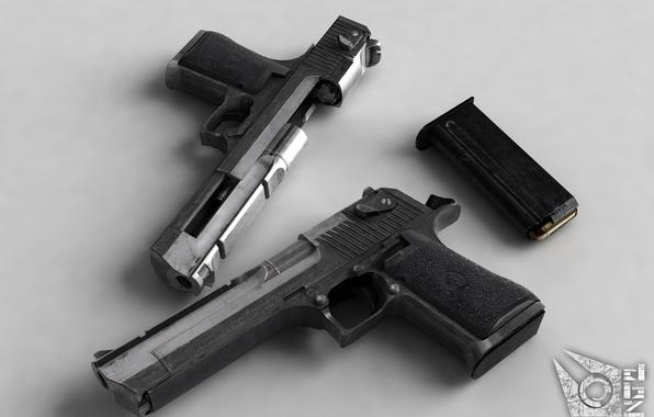 Picture gun, cartridges, shop