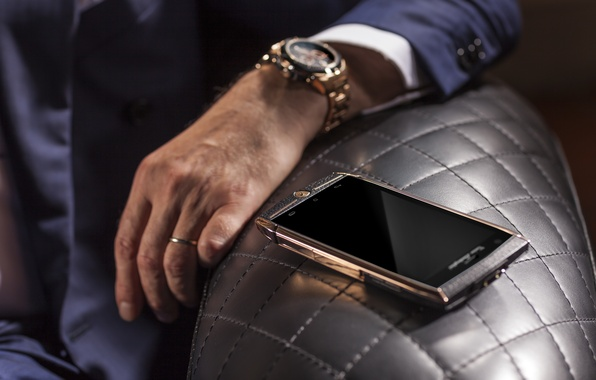 Picture gold, watch, hand, technique, Lamborghini, phone, gold, gold, android, style, device, brown, hi-tech, smartphone, watch, …