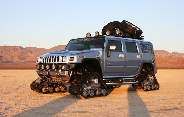Picture auto, desert, hammer