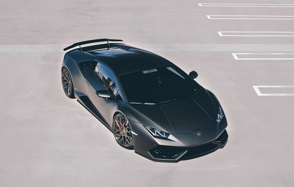 Picture car, Lamborghini, wallpaper, supercar, black, Huracan, GMG