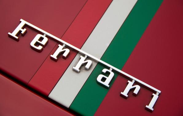 Picture Red, Ferrari, Flag, Logo, Ferrari