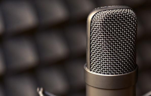 Picture metal, macro, microphone